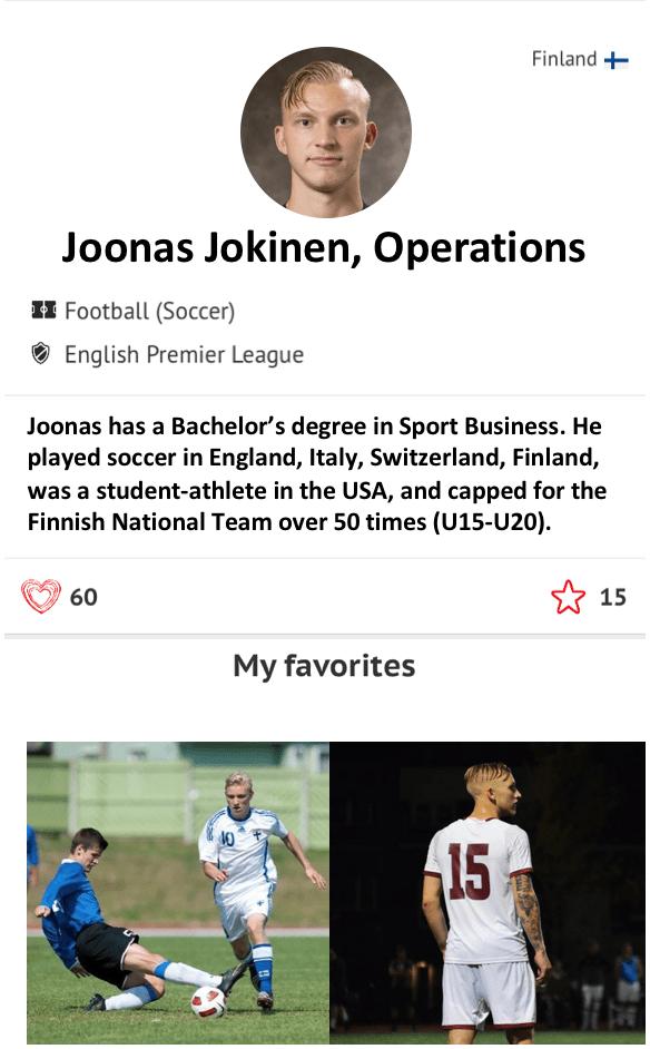 Joonas Jokinen Operations Athlete CRUSH