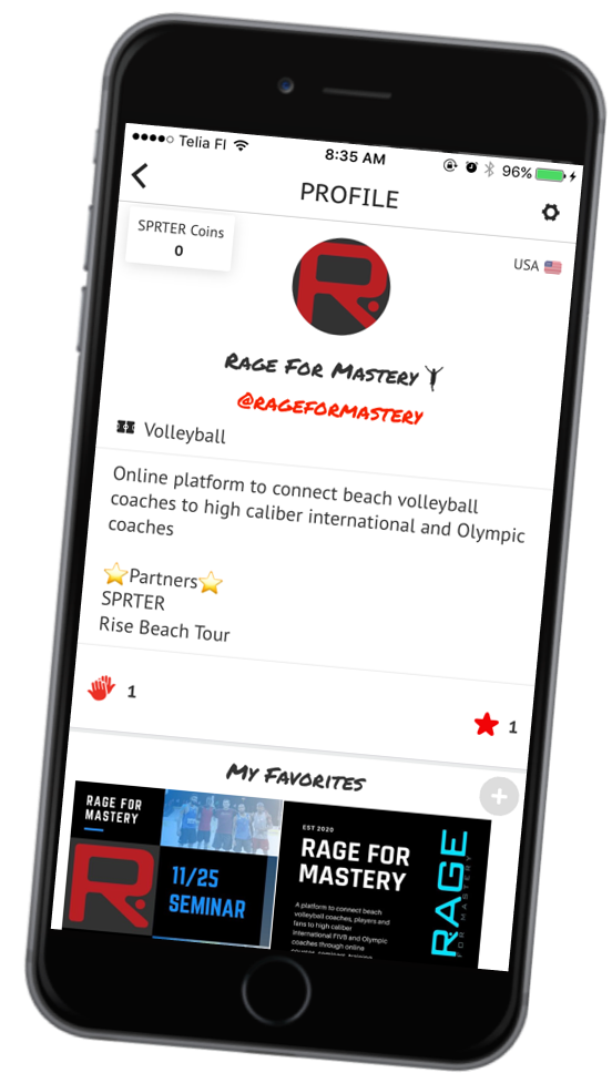 SPRTER x Rage for Mastery Profile